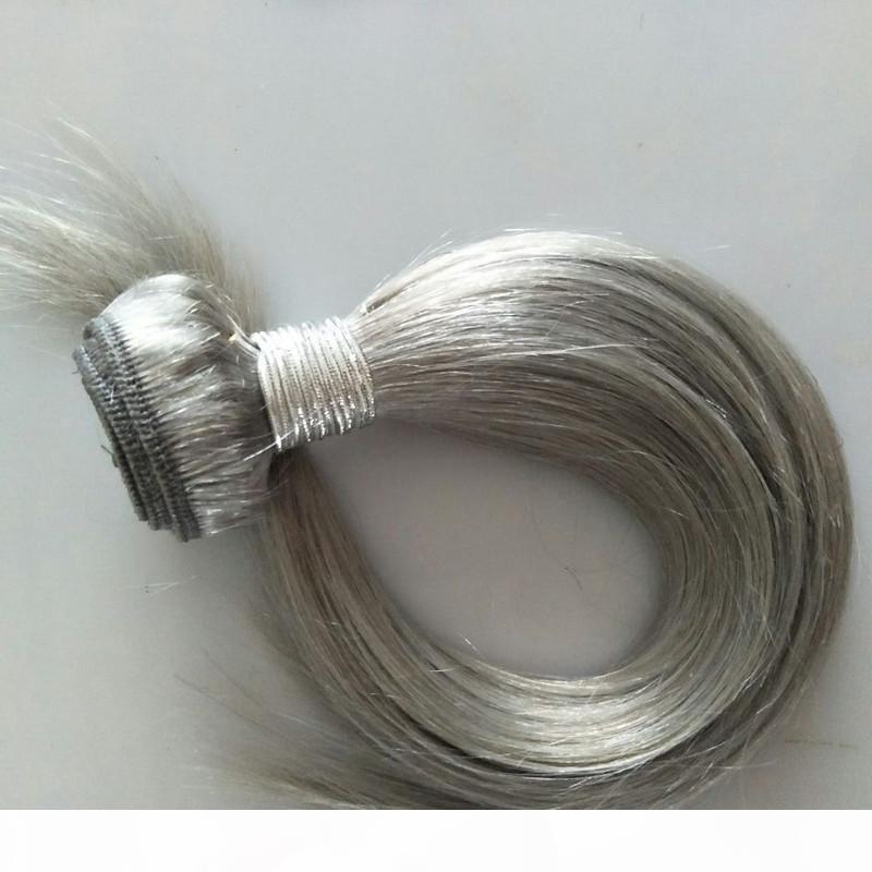 Hotsale Color Gray 100g pc & 4Pcs one Lot Indain Virgin Hair Weaves Bundles