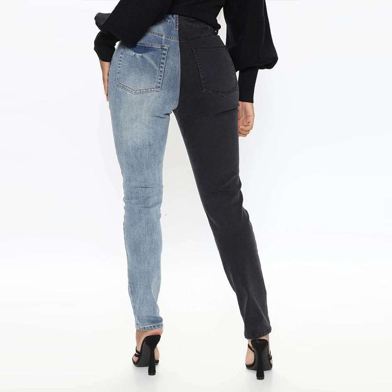 الجينز السراويل البضائع السراويل الهيب هوب سليم الأزياء الجينز الخريف الكورية الشارع الشارع الشهير النسخة المرقعة عارضة المرأة