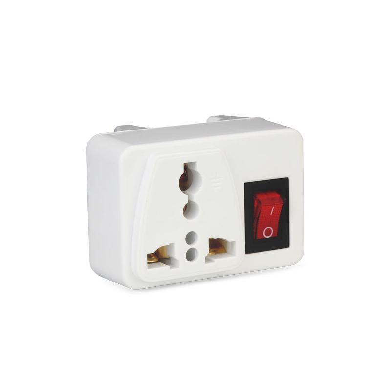 Smart Power Plugs 2PCS US AC Convertitore elettrico AC Convertitore a AU UK International Travel Universal Adapter Presa con interruttore di sicurezza