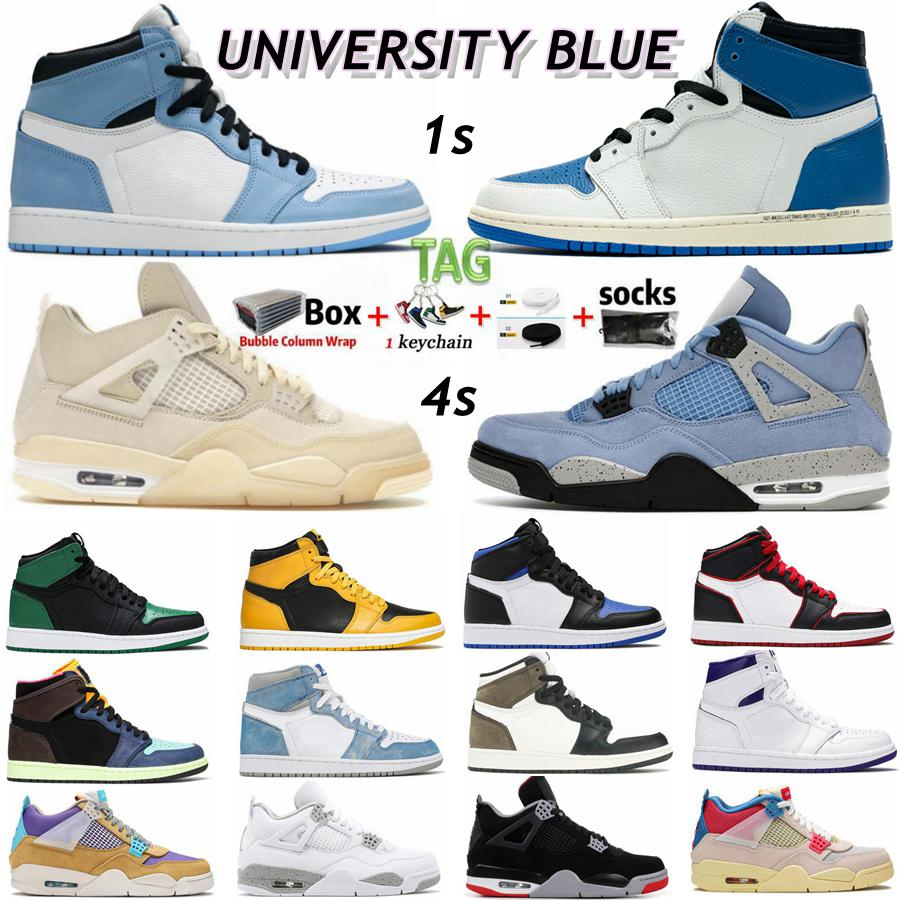 Nike Air jordan Retro Travis Scotts 1 1S Obsidienne Unc Og Twist Quelles Chaussures Basketball Hommes Black Cat Bred Jumpman 4 4s Union Sail Concord 11 11S Femmes Sneakers