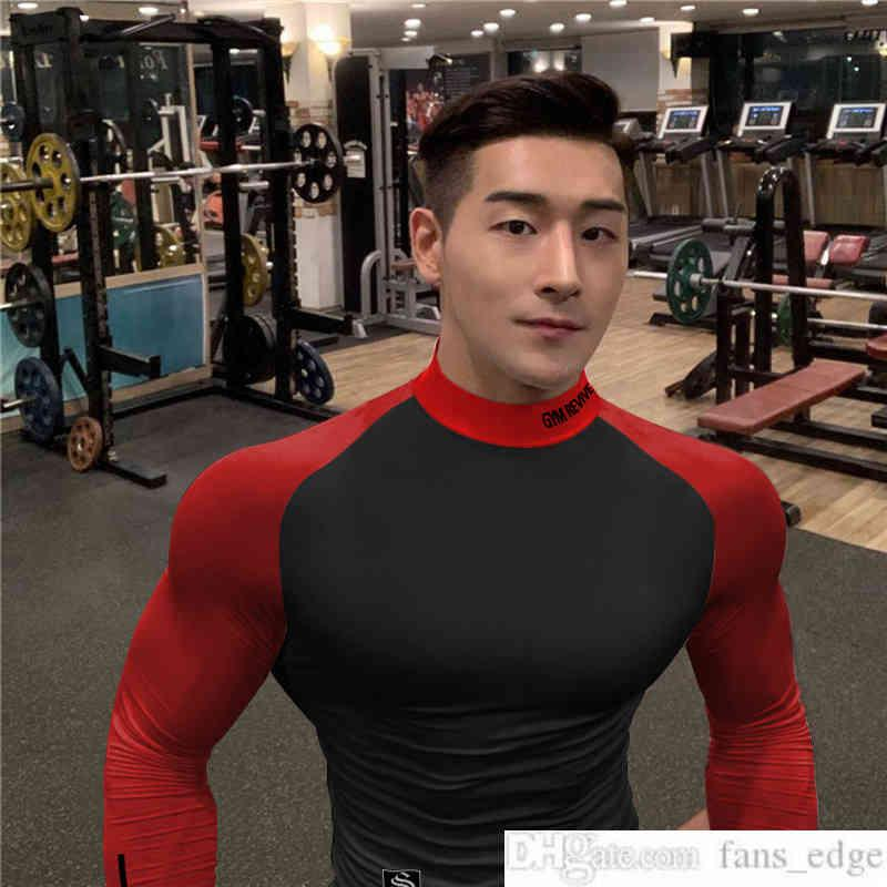 2021 New Brother Tights Running Training Muscle Workout Dog Long Sleeve Quick-Drying Breathable High Elastic T-shirt