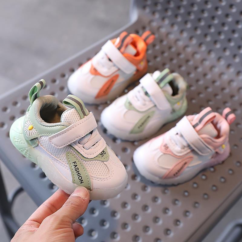 0-1-2-3 yaşındaki ilk yürüyüş bebek yürüyor ayakkabı çocuklar Sneaker Bebek Erkek ve Kız Spor Nefes Yumuşak Koşu Yürüyüşü