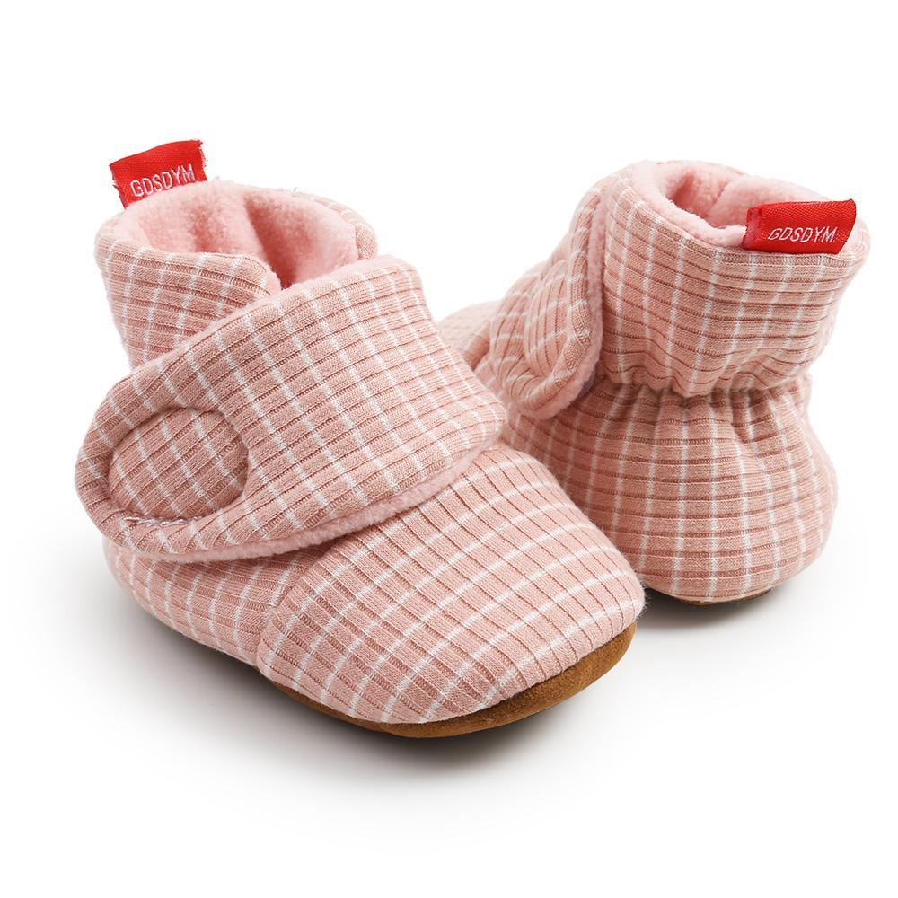Gdsdym 아기 부티 첫 번째 워커 따뜻한 유아 신생아 양말 신발 Prewalkers 겨울 신발 실내 슬리퍼