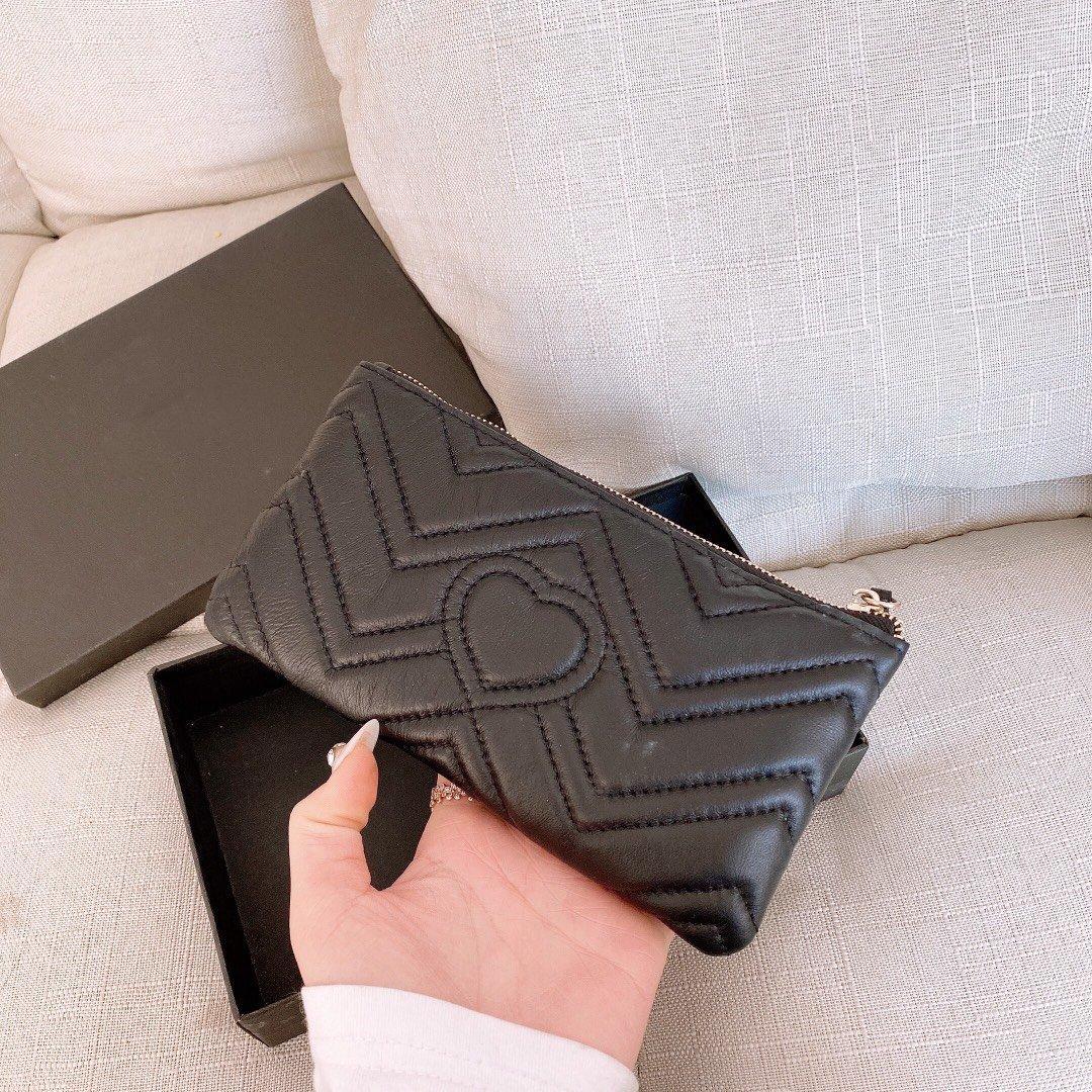 Venda por atacado casual moeda bolsa telefone móvel grande capacidade macia e delicada cor preta longa tamanho 18x12