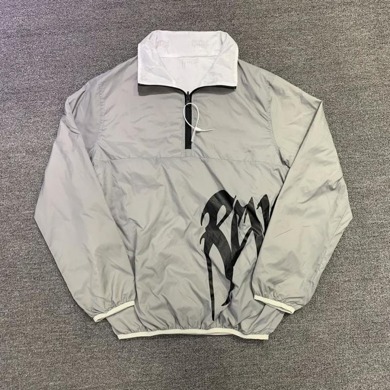 Reflektierende Windjacke 21ss Rache Jacke doppelt gesichter lose Fit Mantel Freizeit Männer Frauen Hip Hop Jacken Männer