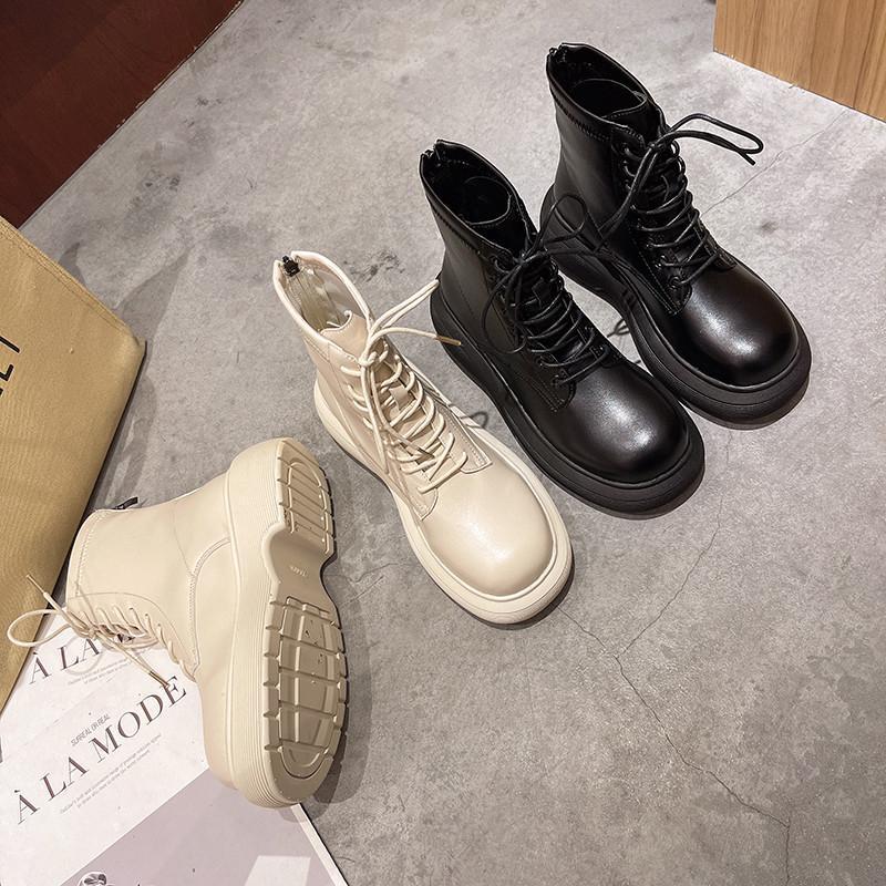 Boots Women's Rubber Shoes Round Toe Luxury Designer Zipper Flat Heel Boots-Women Rain Summer Black Fashion Lolita Ankle 2021 L