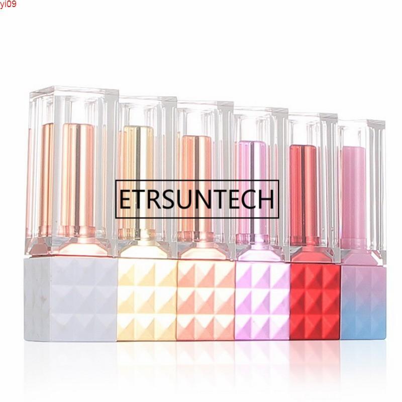 3,7g 12,1mm High Grad Quadratische Make-up DIY leerer Lippenstift-Rohr-Kunststoff-Lippen-Balsam für Rouge-Kosmetikbehälter 6 Farbengut-Menge