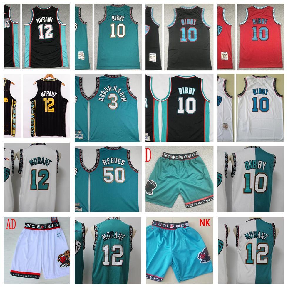 Mitchellness 1998-99 Jerseys de baloncesto Retro ShareEF10BIBBY JA12MORANT MIKE3ABDURRAHIM GREEN 50REVERES PEDIDO NEGRO NEGRO RED 98-99 JERSEY