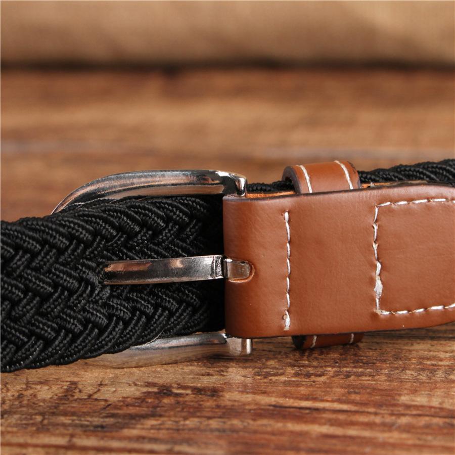 Elastische 2,5cm-Damen-schmale Leinwand-modischer und vielseitiger Pin-Schnallegürtel, Multi Color KP44