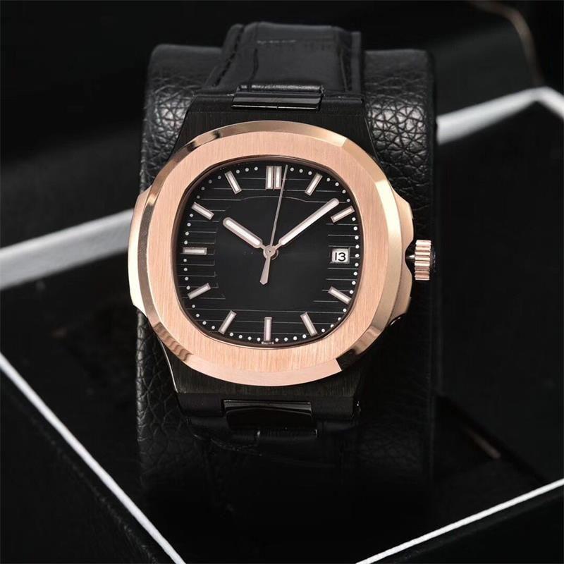 가죽 스트랩 망 시계 럭셔리 시계 9 색 사파이어 유리 5711 시리즈 자동 손목 시계 BDFL