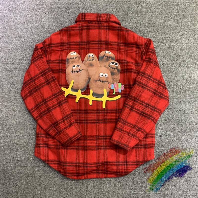 Plaid Travis Scott Cactus Jack Veste Flanel Sweat à capuche Hommes Femmes Chemise en laine Chemise en laine Maillot manteaux Pull