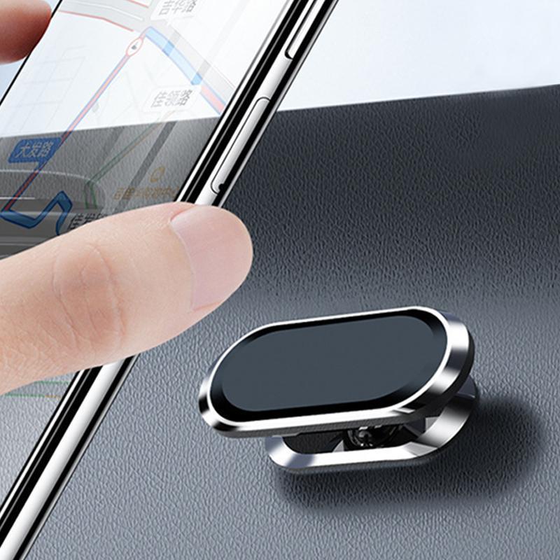 Suporte magnético do titular do telefone do carro Mini Forma da faixa do painel para o ímã móvel Montagem universal do pasta de pasta universal dos gps