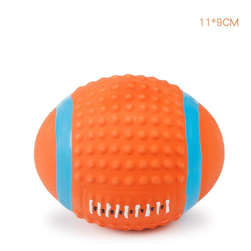 Soft Latex Pet Dog Toy Ball Squeak Toys Cleaning Tooth Chew Voice ToyPet Supplies Non-toxic Training Balls Durable KKB7918