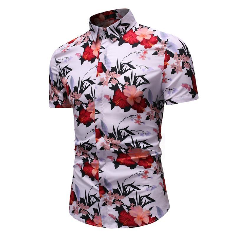 Camisa de manga corta de la manga corta de la impresión del ocio de la impresión de los hombres de la fabricación de hombres