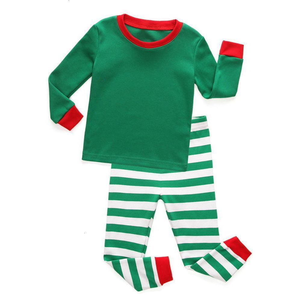 Pyjamas Shipping PhysiquepringPRING Automne Coton Enfants Stripe Stripe Stripe de Noël