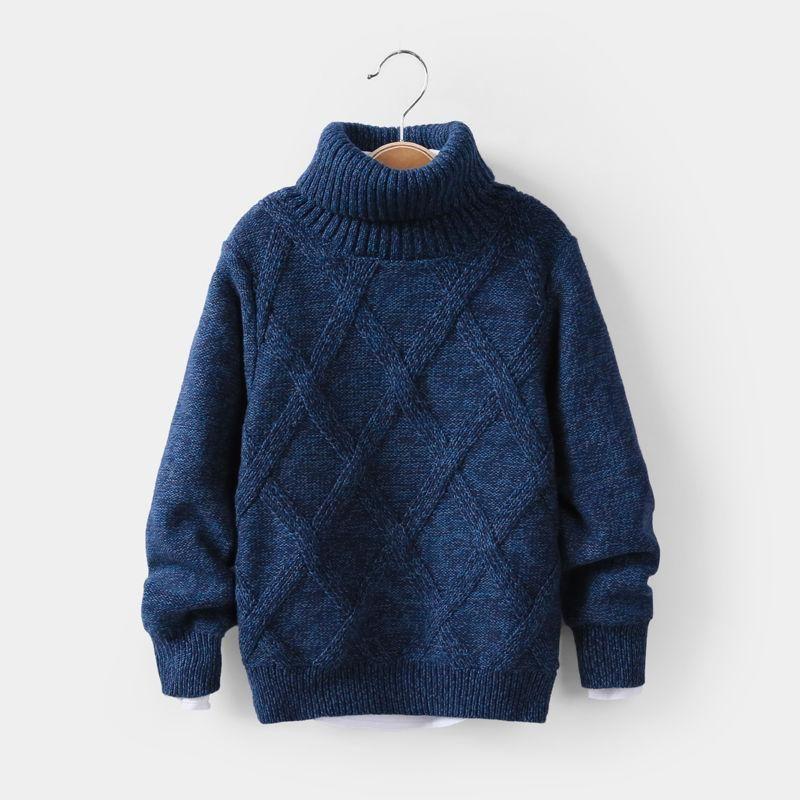 12Y 어린이 의류 니트 스웨터 Turtleneck 소년 의류 겨울 풀오버 아이들 착용 카디건
