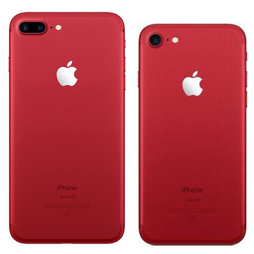 Red Color Refurbished Original Apple iPhone 7 / 7 Plus Fingerprint iOS 32/128/256GB ROM Quad Core 12MP 4G LTE Smart Phone Free DHL 30pcs