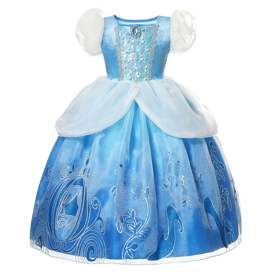 سندريلا فتاة اللباس 2020 جديد فتاة عيد الأميرة نافيداد الاطفال ملابس الأطفال vestidos هالوين حزب تأثيري حلي