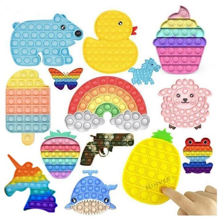 DHL Fidget Toy Sensory Push Bubble Fidget Sensory Toy Autism Special Needs Angst Stress Reliever voor studenten Office Worker Gebruik