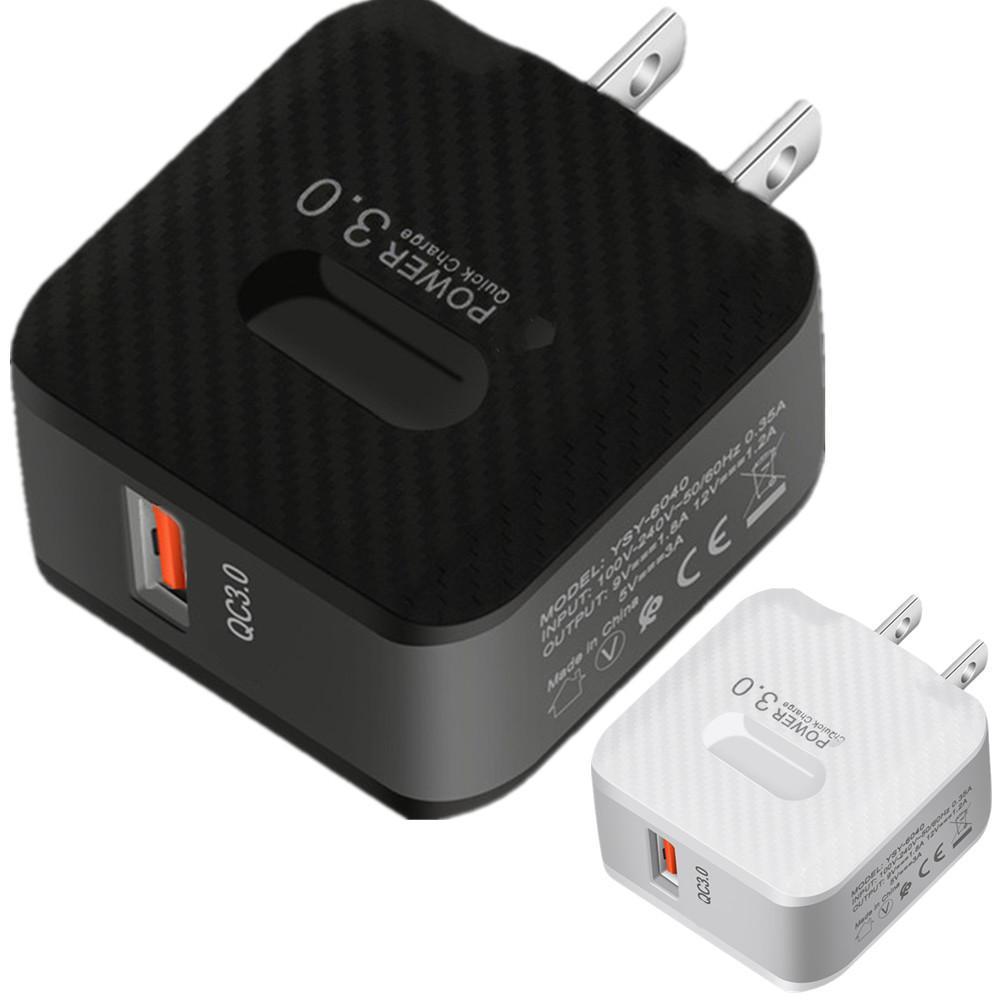 QC3.0 Quick Charge ЕС US настенное зарядное устройство адаптер питания 5V 3A для Samsung HTC LG Android телефона PC MP3