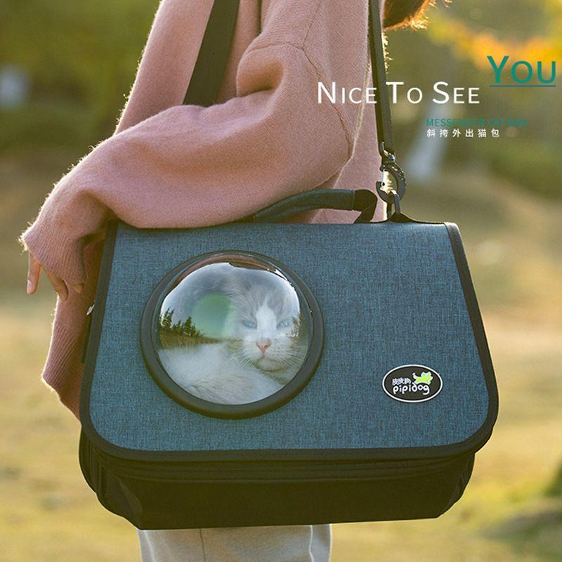Portable Bag One Shoulder Breathable Handbag Space Capsule Crossbar Cat Go Out Carry Dog Backpack