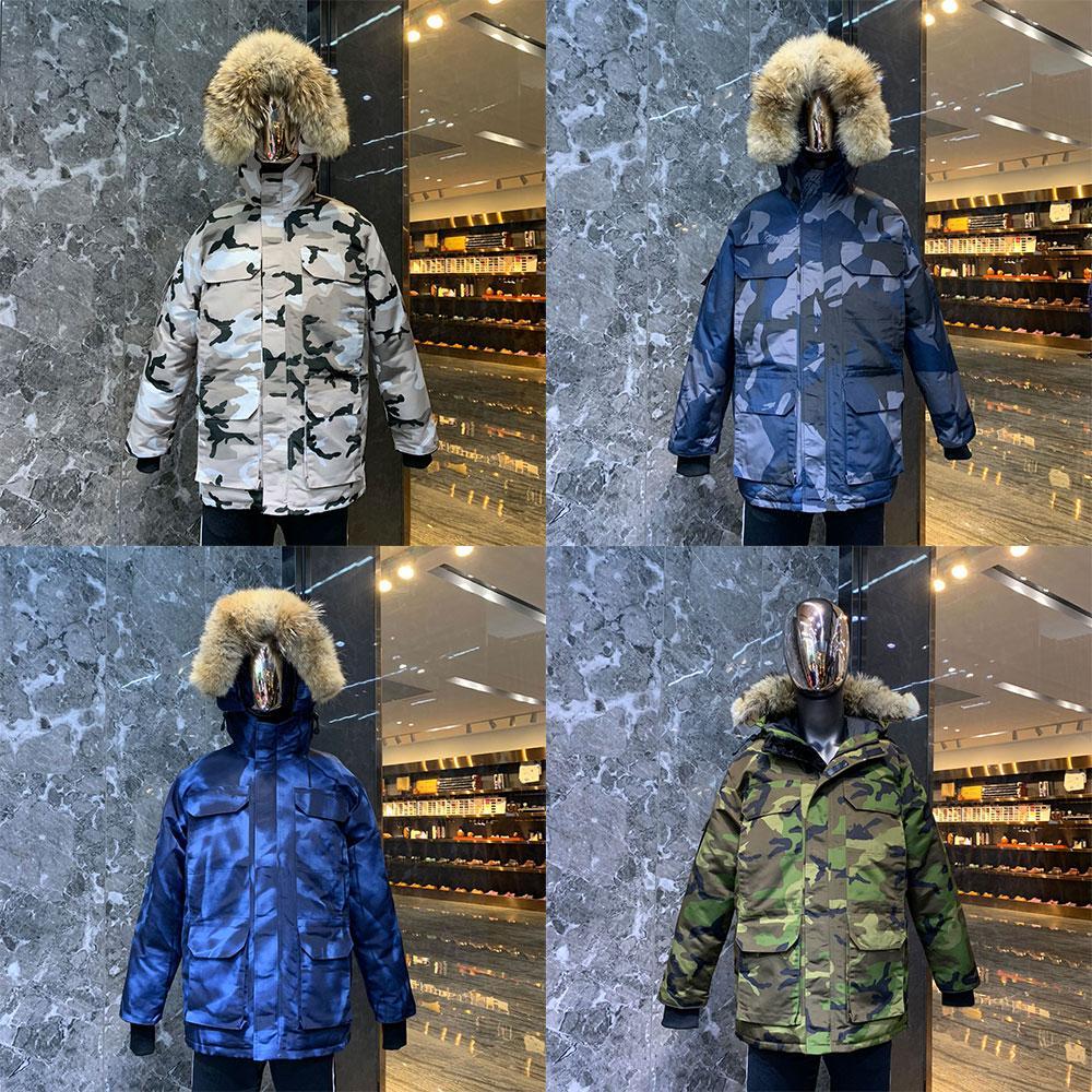 2021 Hombres Invierno Chaqueta Canadiense Goode C Down Abrigo Canadá Mujer Fello Foodle Camuflaje Manteau Canadiens