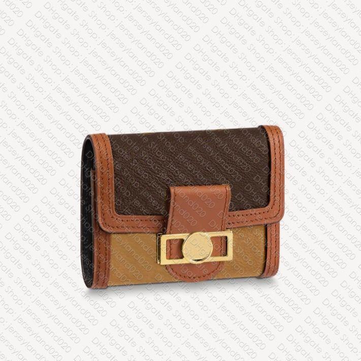 M68725 Dauphine محفظة محفظة مصمم إمرأة قماش Portefeuille Zippy Zippy Coin محفظة بطاقة حامل فيكتورين مفتاح الحقيبة مصغرة Pochette Accessoires Cle Hobo