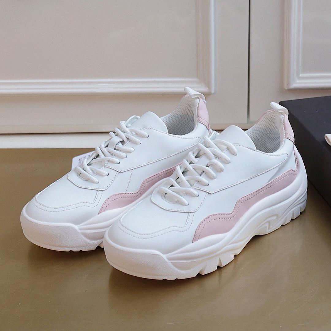 En Kaliteli Lüks Tasarımcı Ayakkabı Sneakers Çiftler Platformu için Hakiki Deri Eğitmenler Çok İyi ve Konforlu Arttırıldı