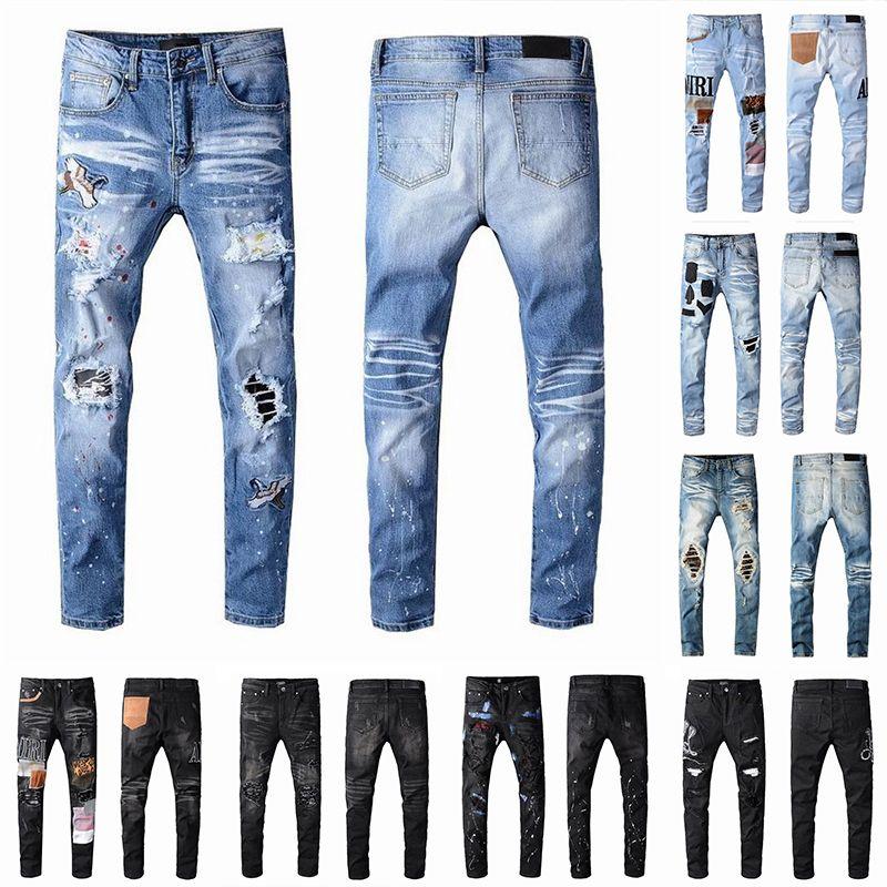 20SS Mens Designer Jeans New Style Haute Qualité Mode Marque Hommes Casual Skinny sauvage Sweatpants homme Mesh trou Pantalon jogging Taille 28-40