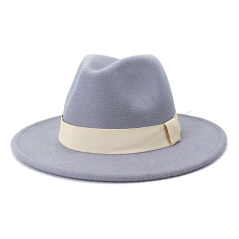 fedora women hats panama wide brim ribbon band beige white black felted hat jazz men caps formal dress casual outdoor women hats