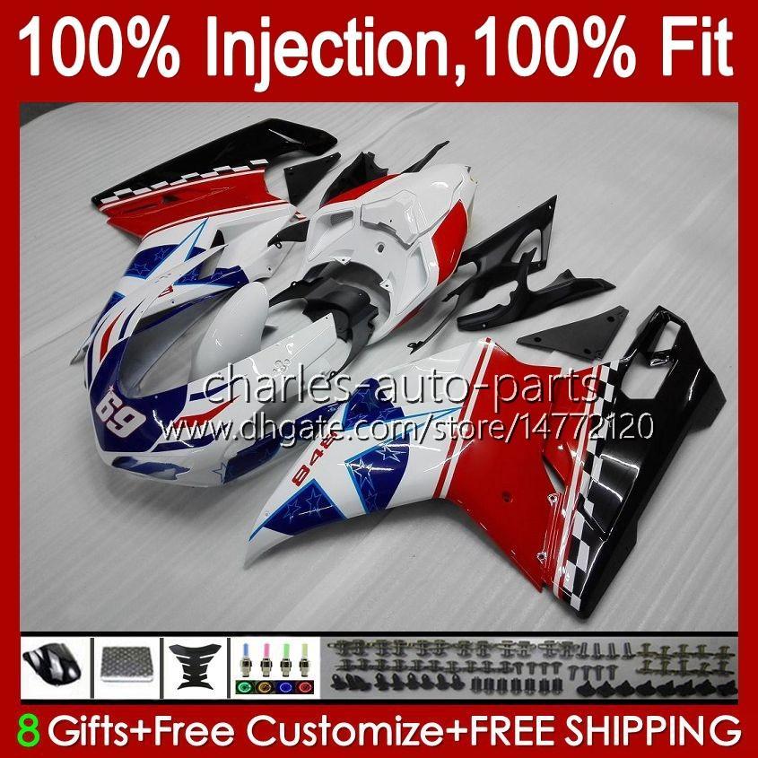 Kroppsarbete för Ducati 848 1098 1198 S 07 08 09 10 11 848R 1098R 75HM4 MATT Svart 848s 1198R 1098S 1198S 2008 2008 2009 2010 2011 Fairing Kit