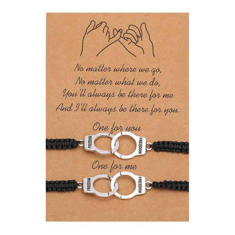 2 teile / satz Freundschaft Armband mit Kartenbrief Freiheit Link Kette Armbänder Geschenk Für Freunde Modeschmuck Zubehör