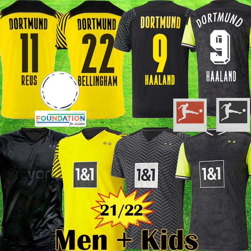 Acquista BVB 1990 Limited Edition HAALAND REUS Maglia Da Calcio Borussia Dortmund BELLINGHAM 4th Special Maglie Da Calcio 2021 2122 SANCHO BRANDT ...
