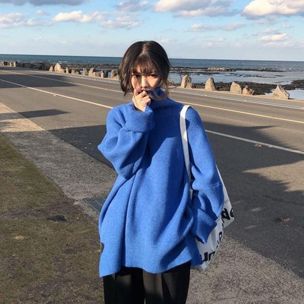 Толстая водолазка свитер женские осенью и зимний свободный трикотаж топ женские свитеры Femme Chandails Pull Hiver