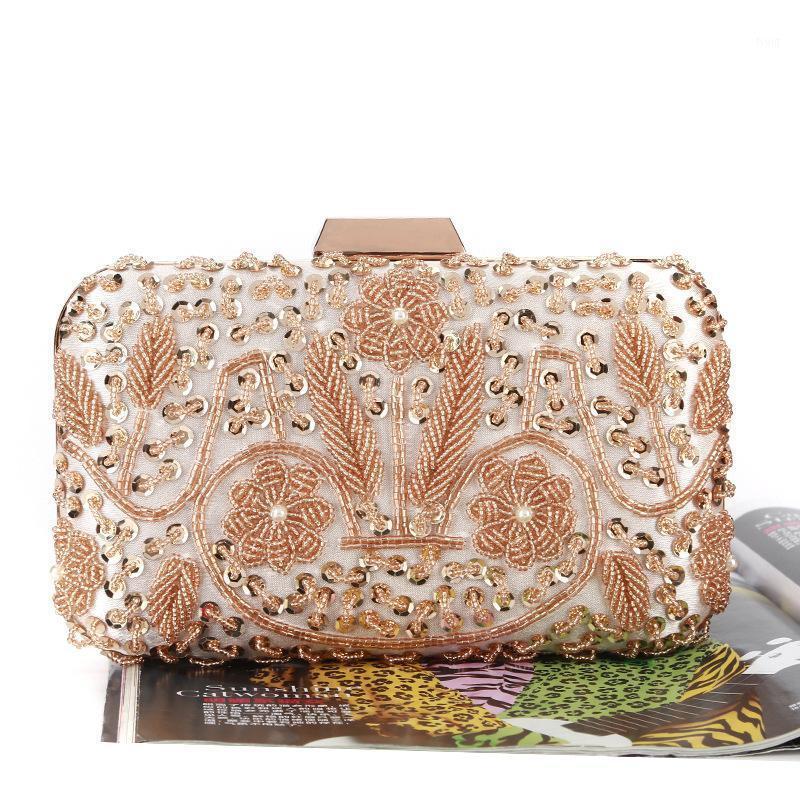 نقية اليدوية الترتر مطرز حقيبة كروسبودي للنساء أكياس مساء البقرات الكتف رسول سلسلة الذهب الفضة لون مخلب bag1