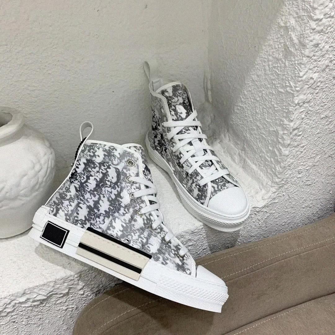 2021 B 23 High Low Cut Top Schräg Biene Männer Frauen Luxurys Schuhe Mode Paar Technische Leder Outdoor Platform Designer Classic B23 Turnschuhe