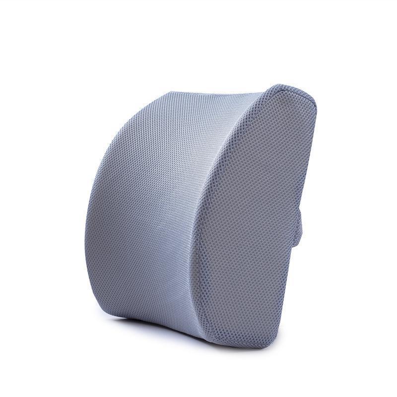 Cojín / almohada decorativa Diseño ergonómico Rebounde lento Memoria de espuma de espalda Silla de oficina Cojín de cintura Soporte lumbar Aliviar el dolor