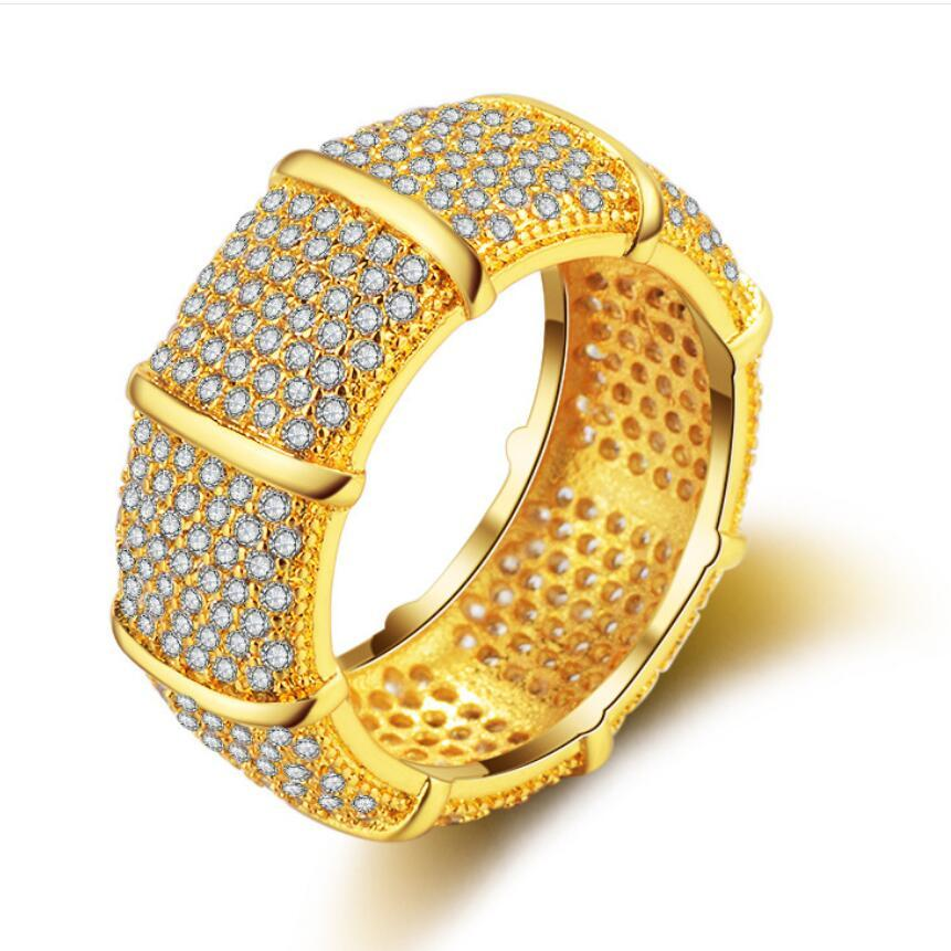 jewelry rings for women gold color full crystal punk hip hop wholesale hot fashion free of shipping