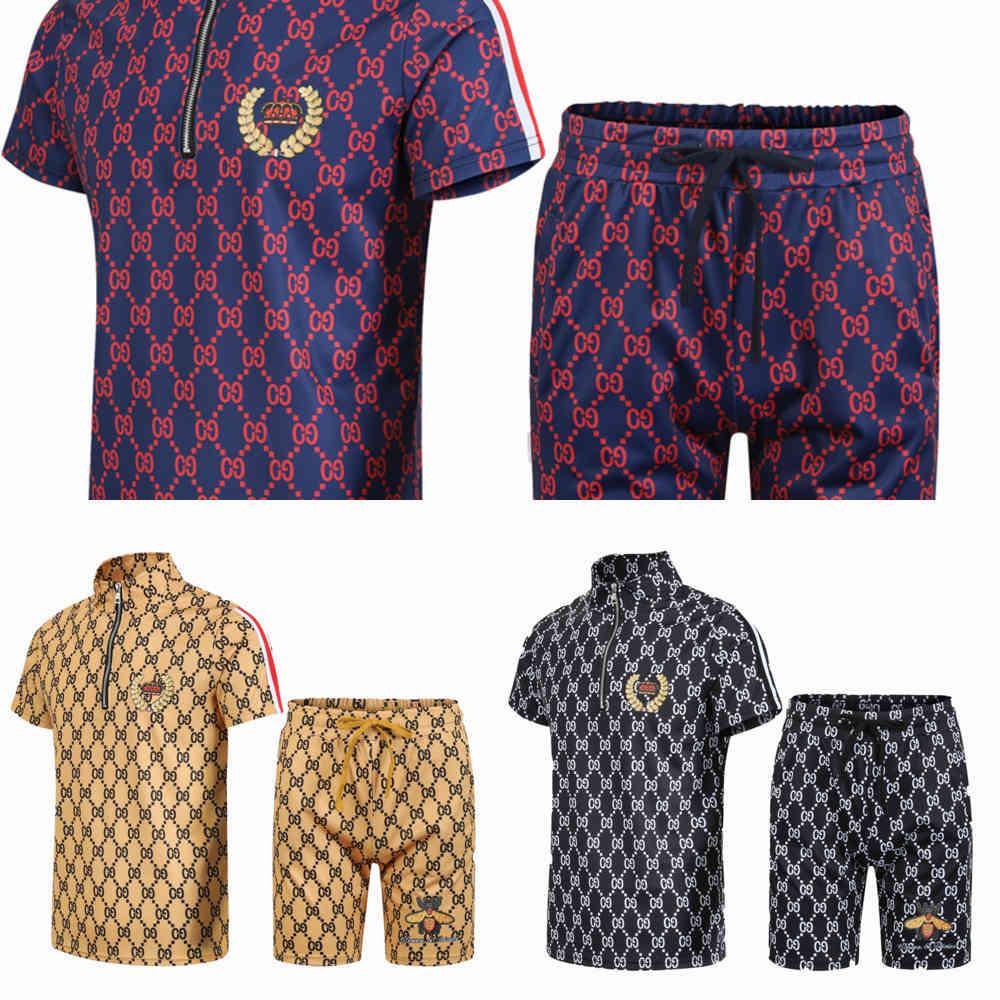 Herrenmode-Art-T-Shirt-Shorts, Sommer 2 Sportbekleidung, Freizeitanzug, x0601