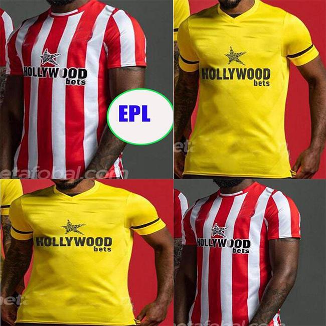 FC Brentford 21 22 22soccer jerseys Home Fosu Mbeumo Toney Dasilva Forss Cano Camisetas 2021 2022 Maillot de pé adulto homens kit de futebol