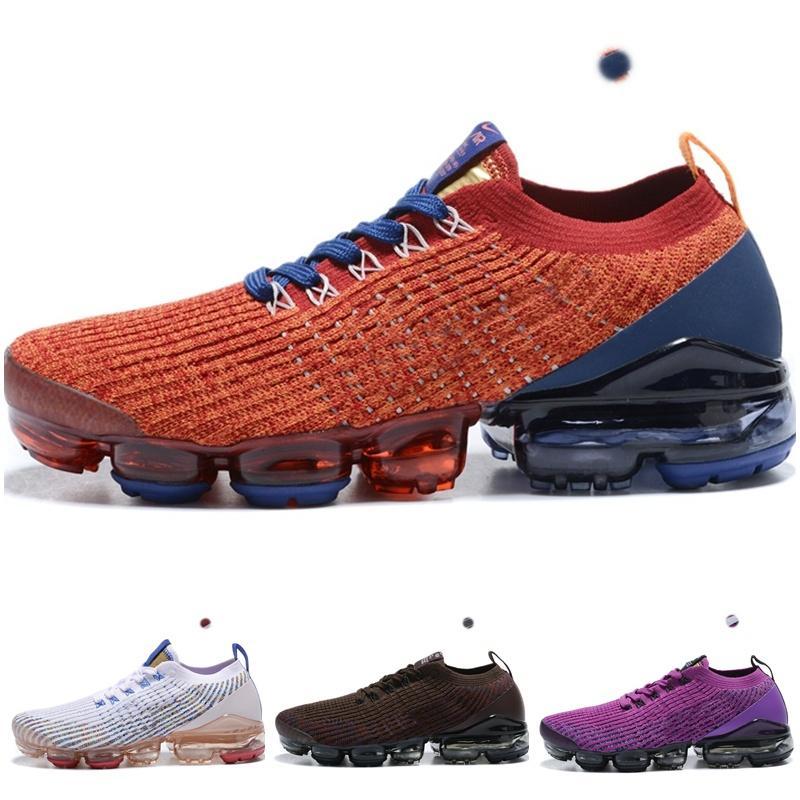nike air vapormax 2019 plus Flyknit 2021 Donne da uomo Stivali Scarpe Fly 3 3.0 Knit Tripla Black Bianco Blu Blue Sports Trainer True Mesh Sneakers 36-45
