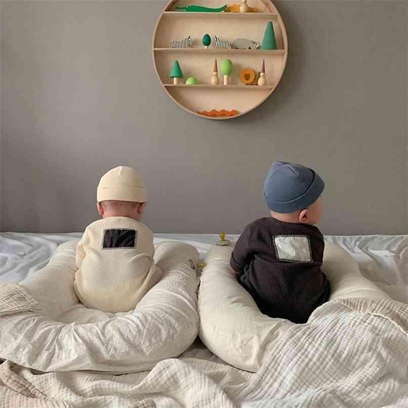 Milancel Baby Rompers Одиночные молочные младенческие мальчики Комбинезоны Корейский стиль Девушки играют костюм 210729