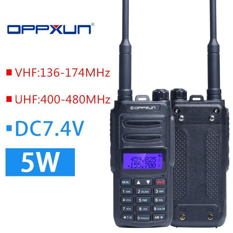 Optional 5W 8W OPPXUN UV8R Walkie Talkie 10 Km 136-174 MHZ 400-470 Walkie-talkie Hunting Radio