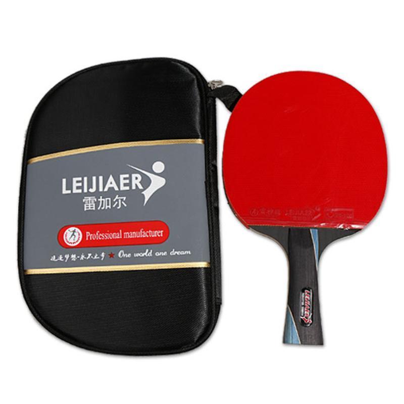 Table de tennis Raquets Professionnel Pong Paddle Raquette de qualité à courte longue chauve-souris avec sac pour la compétition