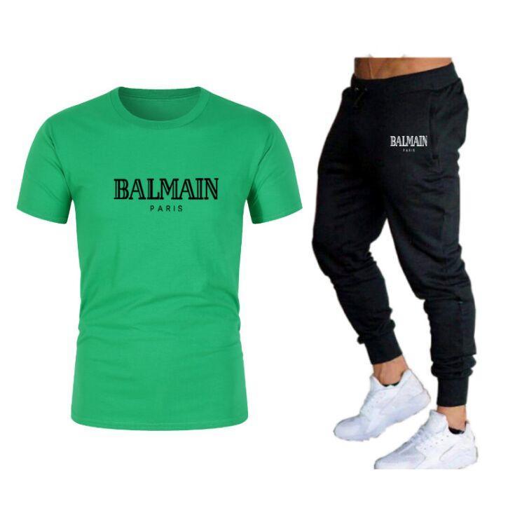 Abbigliamento da uomo Casual Casual Abbigliamento estivo Abbigliamento sportivo Abbigliamento da due pezzi Set nero T Shirt Black Track Abbigliamento Abbigliamento maschile Tute sportive