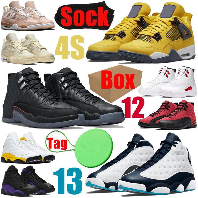 4s 12s 13s chaussures de basket-ball pour hommes Cactus Jack Travis Scott PSG Jumpman University bleu femmes hommes femmes formateurs baskets de sport