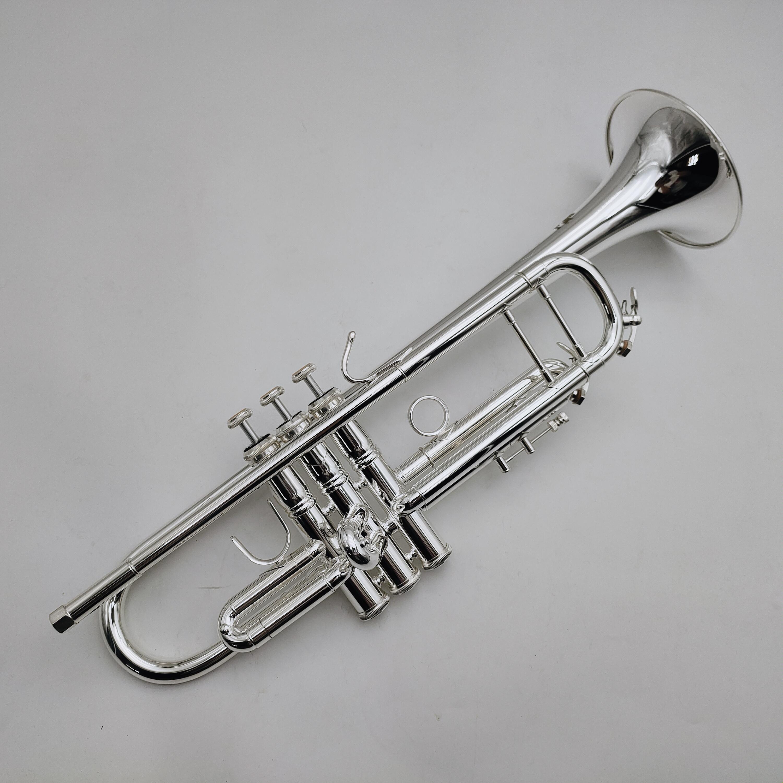 Bach LT180S-37 Profesyonel Performans Aletleri BB Tune Trompet Gümüş Kaplama Yüzey Vaka Ağızlık Aksesuarları Ile Yüksek Kalite