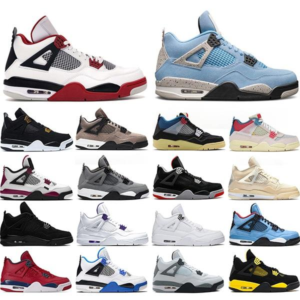 retro 4 4 s Erkekler Basketbol Ayakkabıları Yeni OG 2019 Için Bred Dövme Beyaz Çimento Tekler Gün Tasarımcı Ayakkabı Spor Sneakers Boyutu 8-13