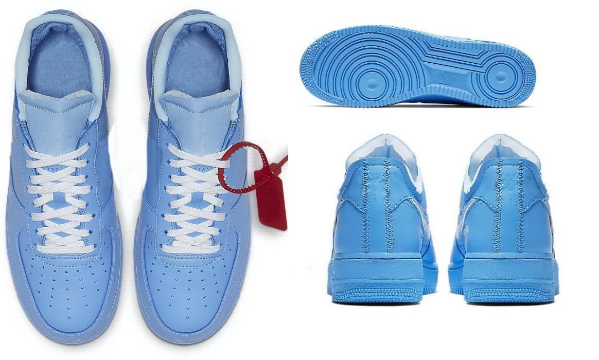 2021 OFFJ1 أحذية كرة السلة أحذية رجالي أحذية رياضية شيكاغو UNC Force1 منخفضة الاحذية دروبشيبينغ قبول خام الصحراء فولت العشرة 07 موما