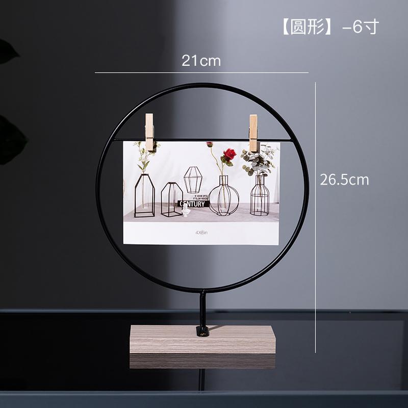 Alliage d'aluminium PO Cadre de bureau Ornements minimalistes Affichage créatif Peinture Marco de Fotos Décoration de table ED50XK Cadres